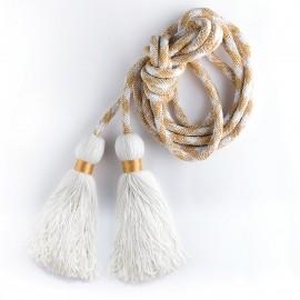 Cingulum - kolor: biały+złoty