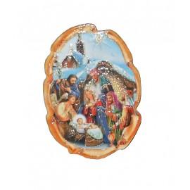 Magnes z szopką bożonarodzeniową