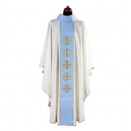 Ornat  biały  Krzyż Jerozolimski
