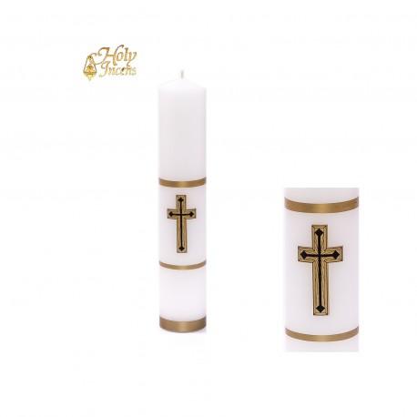 Świeca  ołtarzowa biała do Katafalku