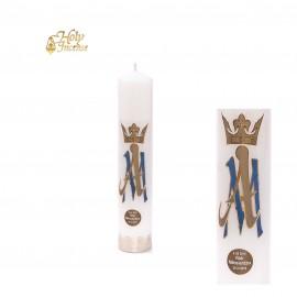 Świeca  ołtarzowa biała Maryjna