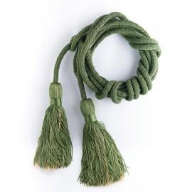 Cingulum zielone ze złotym zdobieniem pompona