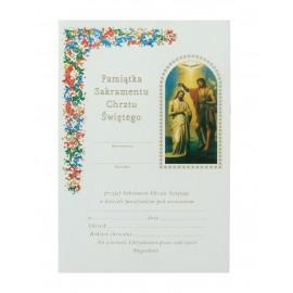 Dyplom - Pamiątka Sakramentu Chrztu Świętego