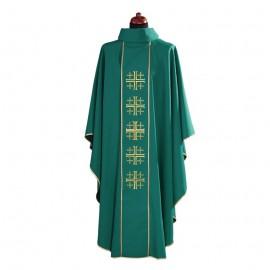 Ornat zielony   Krzyż Jerozolimski