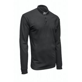 Koszula kapłańska POLO czarna