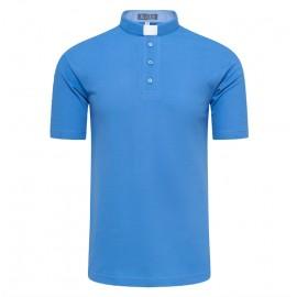 Koszula kapłańska POLO niebieska