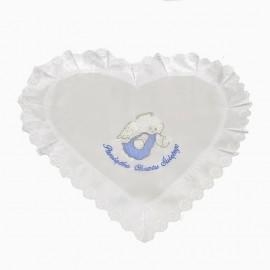 Szatka serce Aniołek Latający niebiesko- srebrny