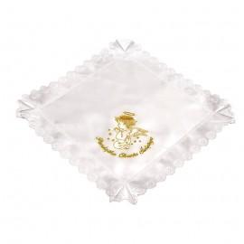 Szatka kwadrat   Aniołek modlący się złota nitka