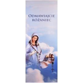 Baner z Matką Bożą Różańcową (75x200)